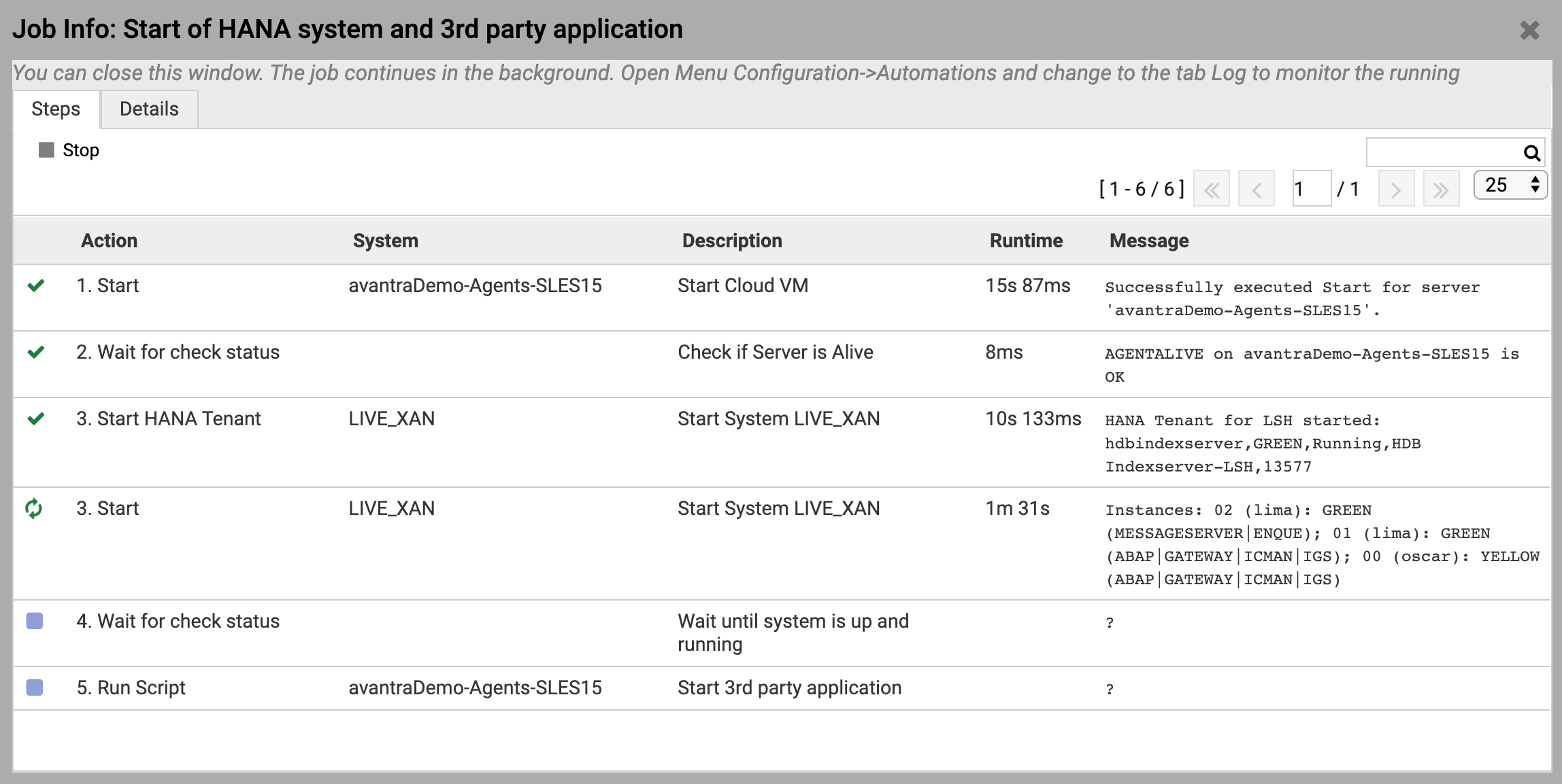 DevOps Automation – Job Details Running-1