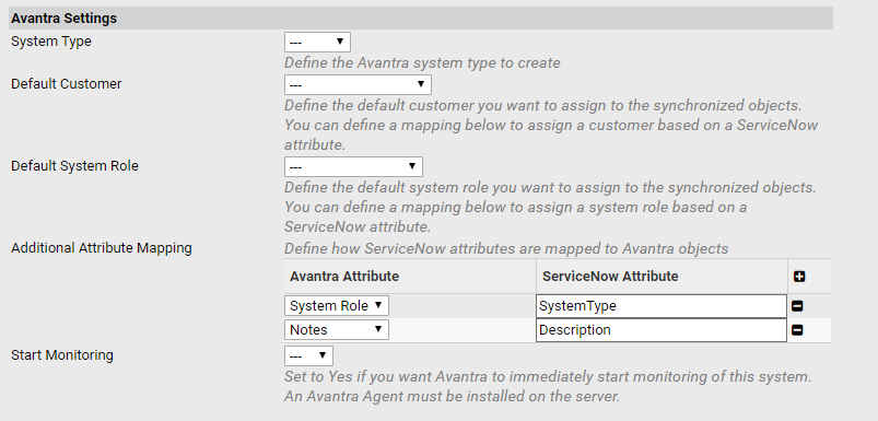 Avantra ticketing systems integration