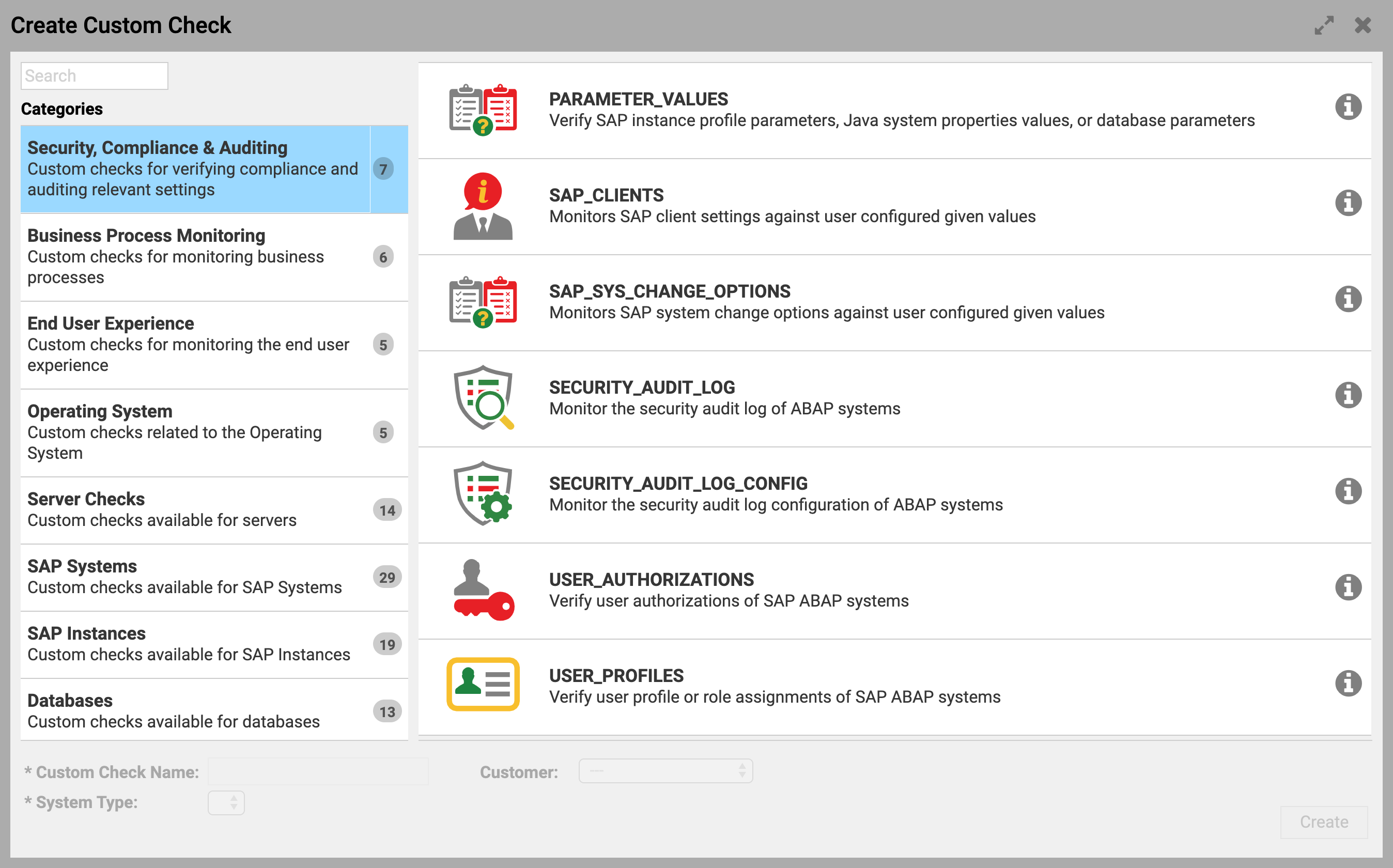 Audit and Compliance – Custom Check Types in Avantra