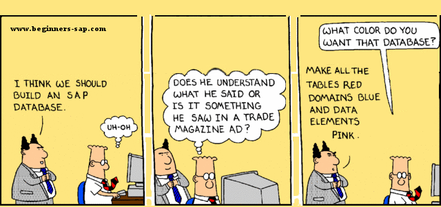 Dilbert learning to code in ABAP | Avantra